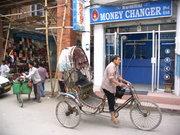 Рикша по улиците на Катманду