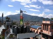 Гледката от покрива на хотела в Катманду